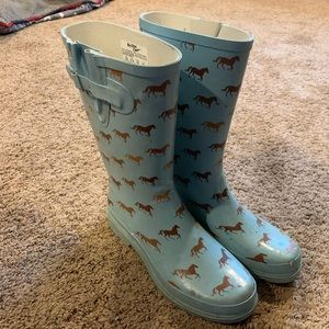 Horse Pattern Rain Boots